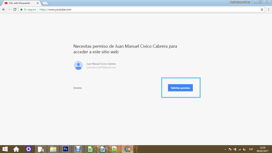 Control parental en Google Chrome 11