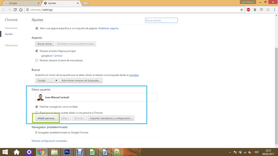 Control parental en Google Chrome 02
