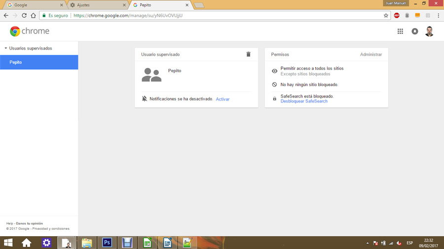 Control parental en Google Chrome 06