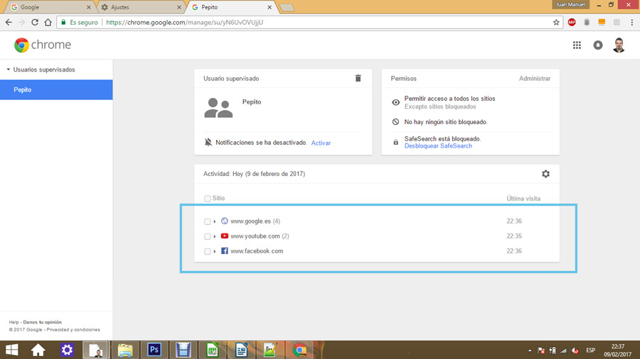 Control parental en Google Chrome 09