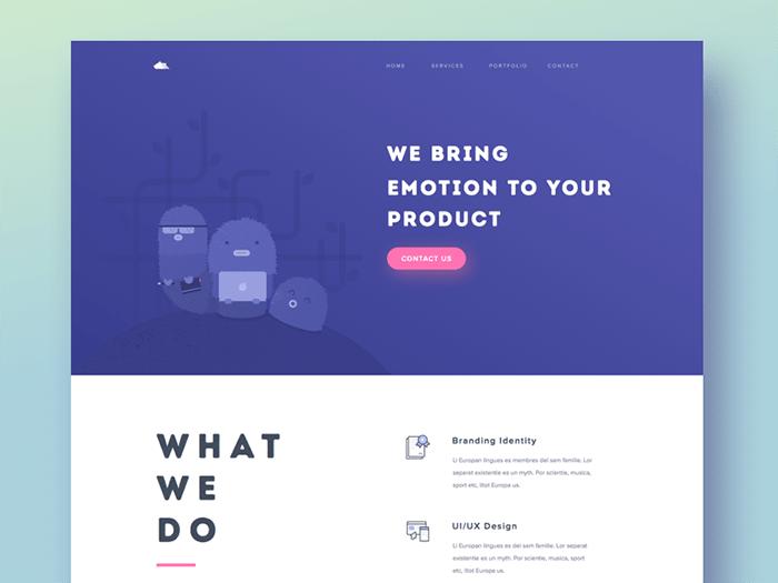 Ejemplo de Diseño Web Simple