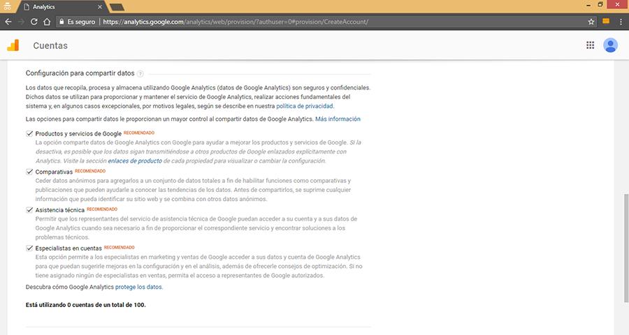 Crear Nueva Cuenta de Google Analytics IV