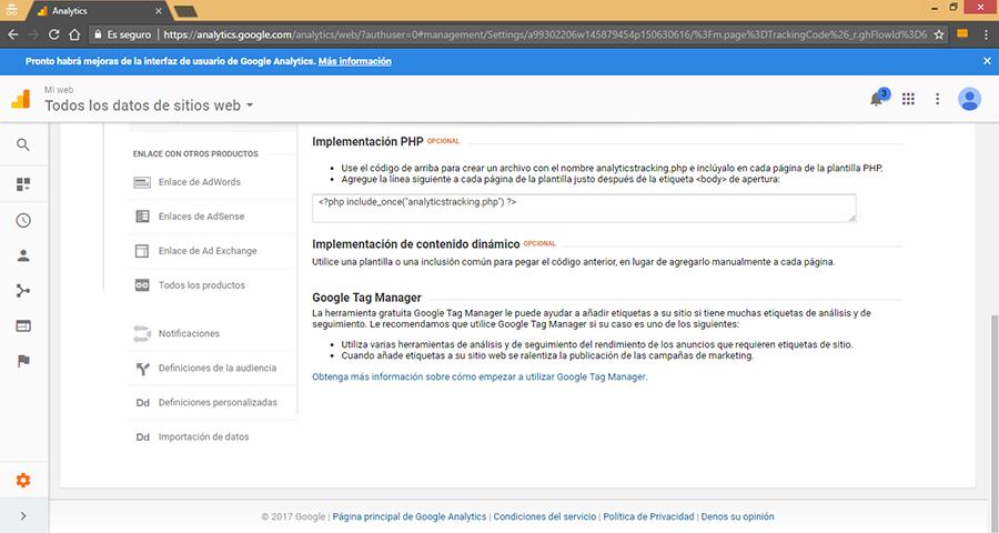 Otras Formas de Insertar Google Analytics