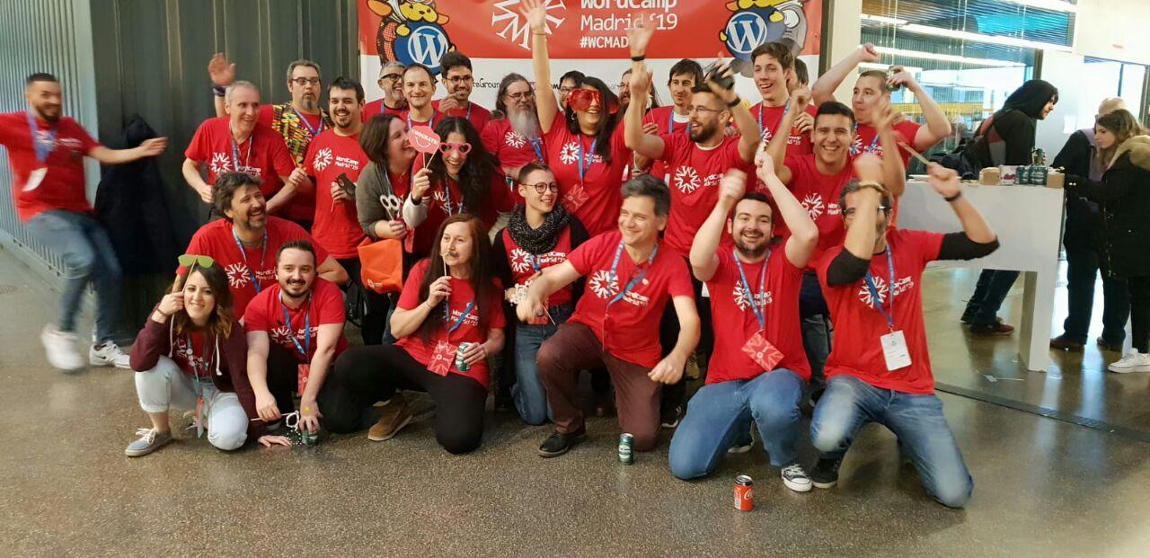 Voluntarios y organizadores de #WCMAD